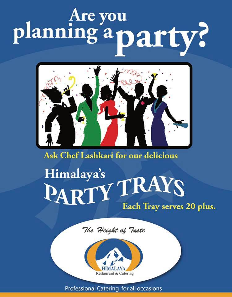 Himalaya Restaurant Party Catering Trays