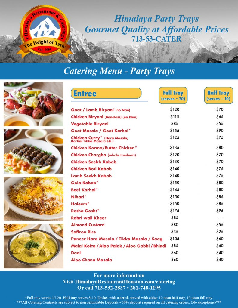 Himalaya-Restaurant-Houston-Party-Catering-Trays
